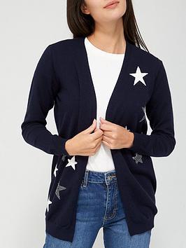 v-by-very-mini-stud-detail-star-cardigannbsp--navy