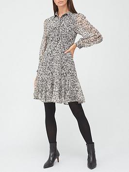v-by-very-georgette-shirt-dress-black-floral