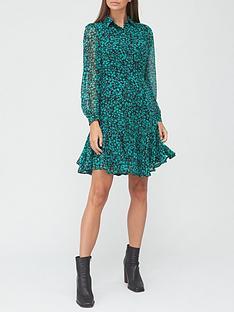 v-by-very-georgette-shirt-dress-green-print