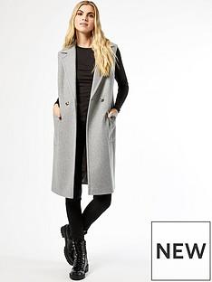 dorothy-perkins-sleeveless-wrap-coat-grey