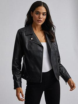 dorothy-perkins-punbspbiker-jacket-black