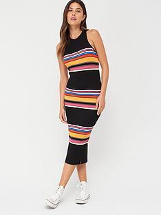superdry-stripe-midi-dress-black-stripe