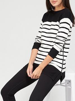 v-by-very-stripe-side-zip-detail-tunic-mono-stripe