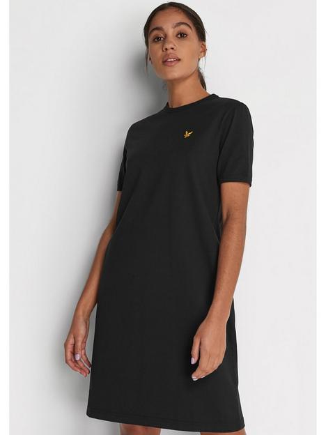 lyle-scott-t-shirt-dress-black