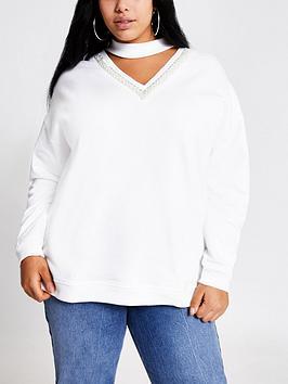 ri-plus-embellished-choker-sweatshirt-white