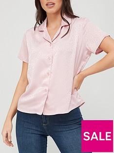 satin-jacquard-revere-blouse-pink