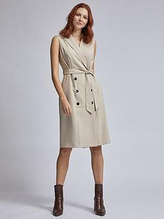 dorothy-perkins-sleeveless-trench-dress-ndash-beige