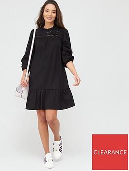 river-island-broderie-anglaise-mix-mini-smock-dress-black