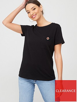river-island-river-island-turnback-sleeve-button-tee-black