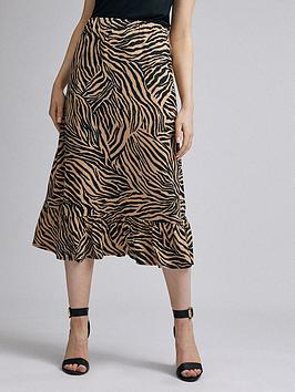 dorothy-perkins-zebra-jersey-midi-skirt-ndash-multi