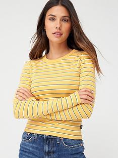 superdry-retro-stripe-long-sleeve-top-ochre