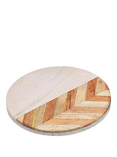 kitchencraft-pink-marble-chevron-trivet