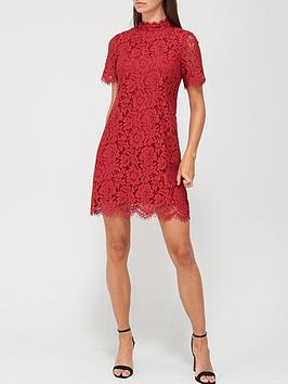 v-by-very-high-neck-lace-tunic-dress-deep-red
