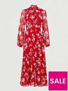 v-by-very-pleated-skirt-midi-dress-red-floral