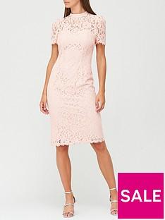 v-by-very-high-neck-lace-pencil-dress-blush