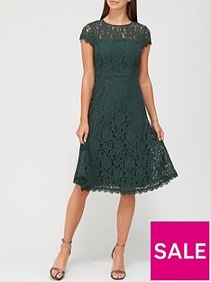 v-by-very-full-skirt-lace-midi-dress-deep-green