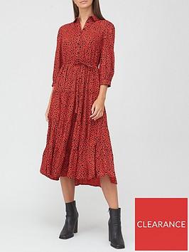 v-by-very-shirt-tiered-midi-dress-red-print