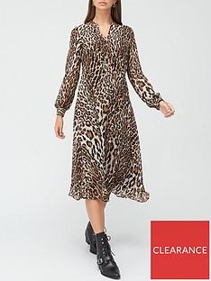 v-by-very-georgette-button-midi-dress-animal