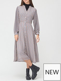 v-by-very-georgette-button-midi-dress-geo-print