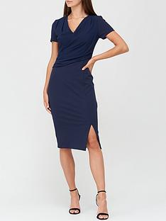 v-by-very-drape-formal-midi-dress-navy