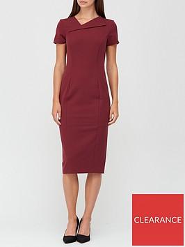 v-by-very-asymmetric-neckline-pencil-midi-dress-with-shapewear-berry