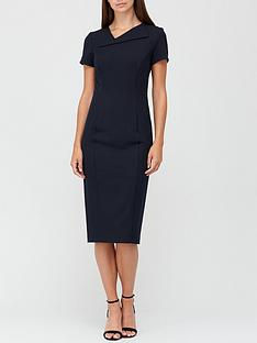 v-by-very-asymmetric-neckline-pencil-midi-dress-with-shapewear-black