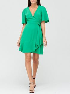 v-by-very-karina-ruffle-wrap-short-dress