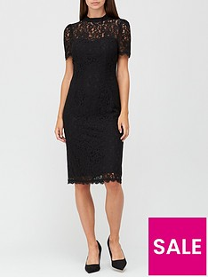 v-by-very-high-neck-lace-pencil-dress-black