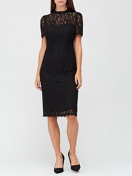 v-by-very-high-neck-lace-pencil-dress-black