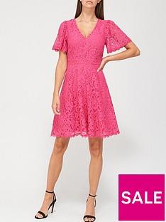 v-by-very-v-neck-lace-skater-dress-pink