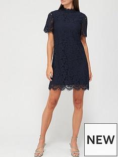 v-by-very-high-neck-lace-tunic-dress-navy