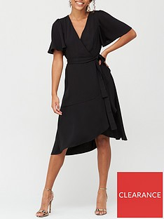 v-by-very-serena-ruffle-wrap-midi-dress-black