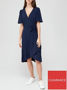 v-by-very-serena-ruffle-wrap-midi-dress-navy