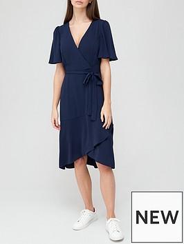 v-by-very-serena-ruffle-wrap-midi-dress-navy