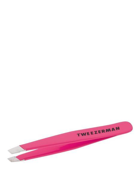 tweezerman-mini-slant-tweezer-neon-pink