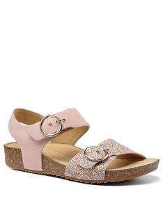 hotter-tourist-buckle-footbed-sandals-blush