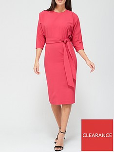 v-by-very-rosa-kimono-sleeve-fitted-dress-pink