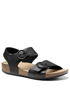 hotter-tourist-buckle-footbed-sandals-black