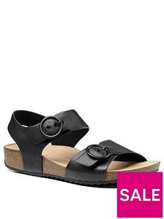 hotter-tourist-buckle-footbed-sandals-black