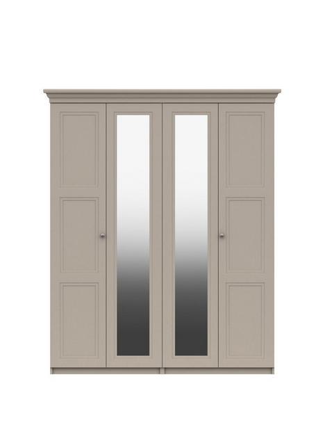 reid-part-assembled-4-doornbspmirrored-wardrobe