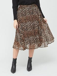 v-by-very-pleated-georgette-skirt-animal-print
