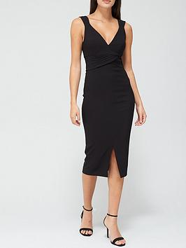 v-by-very-jada-cross-waist-bodycon-pencil-dress-black