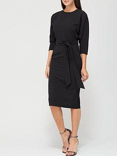 v-by-very-rosa-kimono-sleeve-fitted-dress-black