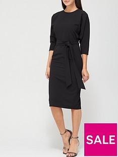 v-by-very-rosa-kimono-sleeve-fitted-dress-black