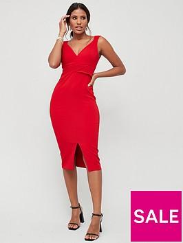 v-by-very-jada-cross-waist-bodycon-pencil-dress-red