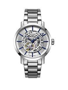 rotary-rotary-greenwich-silver-and-blue-detail-skeleton-auntomatic-dial-stainless-steel-bracelet-mens-watch