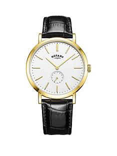 rotary-rotary-white-and-gold-detail-dial-black-leather-strap-mens-watch