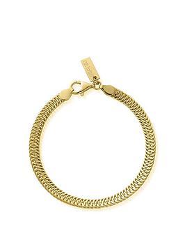 chlobo-gold-plated-silver-the-tide-snake-bracelet-gold