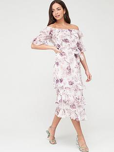 river-island-floral-bardot-ruffle-maxi-dress-pink