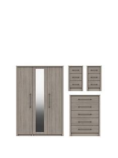 smyth-part-assemblednbsp3-piecenbsppackage-3-door-mirrored-wardrobenbsp5-drawer-chest-and-2-bedside-chests